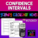 Statistics Confidence Intervals for the Mean on a TI 83 - 84 Plus HW