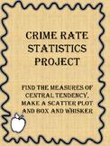 Algebra  Statistics- Crime Rate Project -Histogram, Trend Line, Box and  Whisker