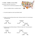 Statistics Data and Variable Classification Candy Activity