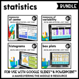 Statistics Digital Math Activity Bundle | 6th Grade Math D