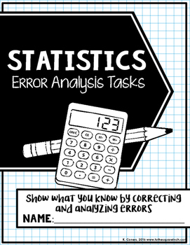 Statistics Error Analysis