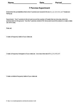 Statistics Experiment: Seven Pennies Experiment