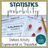 Statistics- Experimental and Theoretical Probability Stations