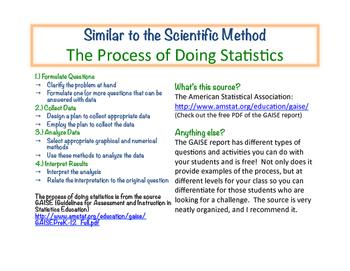 Statistics Information and Resource Freebie!