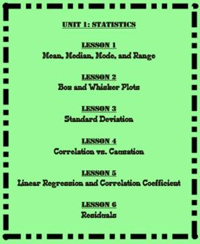Statistics Flashcards (Math 1)