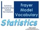 Statistics Frayer Model Vocabulary (Vocabulary they will L