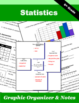 Statistics Graphic Organizer & Guided Notes