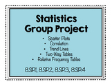Statistics Group Project (8.SP.1, 8.SP.2, 8.SP.3, 8.SP.4)