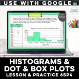 Statistics Histograms, Box Plots & Dot Plots Digital Lesson for Google™ 6SP4