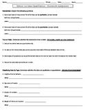 Statistics Homework Worksheet - 1.2 Data Classification