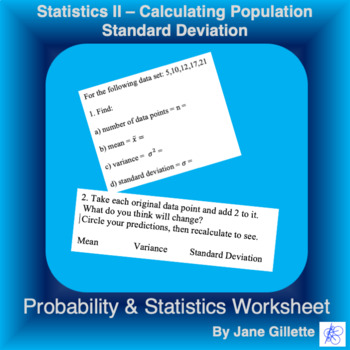 Statistics II - Calculating Population Standard Deviation