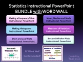 Statistics Instructional PowerPoint BUNDLE with WORD WALL