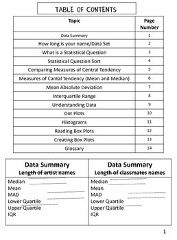 Statistics Interactive Notebook