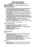 Statistics Investigation for Algebra 1