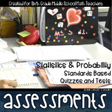 Statistics Math Review Standards Based Assessments & EDITABLE Item Analysis