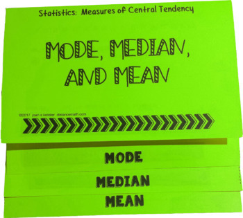 Statistics  Mean Median Mode Measures of Central Tendency Flip Book