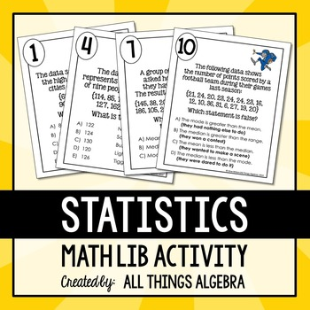 Statistics (Mean, Median, Mode, and Range) Math Lib