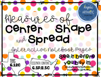 Statistics: Measures of Center, Spread and Describing Shape | TpT