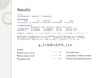 Statistics -Linear regression using R