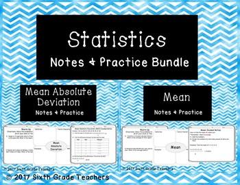 Statistics Notes and Practice Resources Bundle