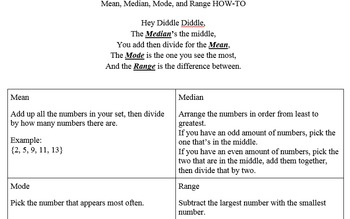 Statistics Notes and Worksheets
