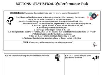 Statistics Performance Task FREEBIE!