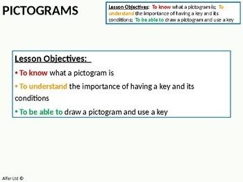 Statistics: Pictograms (+ worksheet)