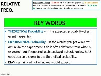 Statistics: Probability 4 - Relative Frequency / Experimental Probability