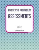 Statistics & Probability Assessments Bundle - CCSS 7.SP (Editable)