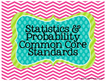 Statistics & Probability Common Core Standards Posters (High School)