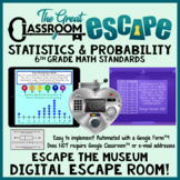 Statistics & Probability Digital Escape Room 6th Grade Standards
