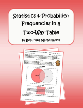 Statistics & Probability: Frequencies in a Two-Way Table