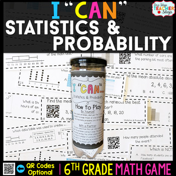 6th Grade Statistics and Probability Game - 6th Grade Math Game