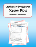 Statistics & Probability: Scatter Plots