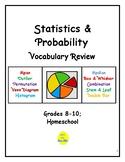 Statistics & Probability Vocabulary Review