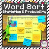 Statistics & Probability Vocabulary Word Sort