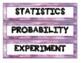 Statistics & Probability - WORD WALL (Math Literacy) - 2 SETS!!