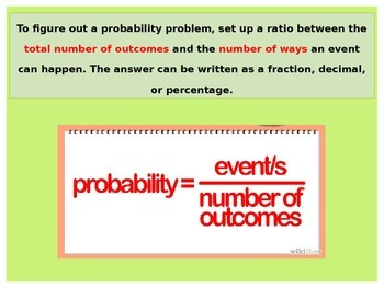 Statistics:  Probability and Odds
