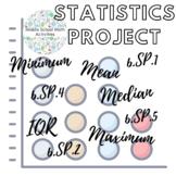 Statistics Project (6.SP.1, 6.SP.2, 6.SP.4, 6.SP.5)