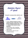 Statistics Project 6th Grade  - Summative Assessment Proje