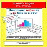 Statistics Project for 6th or 7th Grade!  Bonus Assessment Included.
