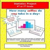Statistics Project for 6th or 7th Grade!  Bonus Assessment