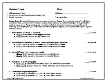 Statistics Project on Class Grades