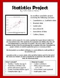 Statistics Project: scatter plot, line of best fit, association of data