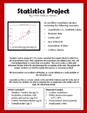 Statistics Project: scatter plot, line of best fit, associ