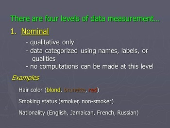 Qualitative & Quantitative Data Notes - Statistics Powerpoint