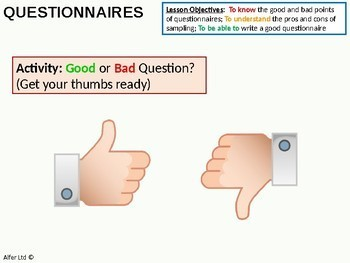 Questionnaires and Surveys + worksheet