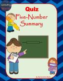 Statistics Quiz: Five-Number Summary