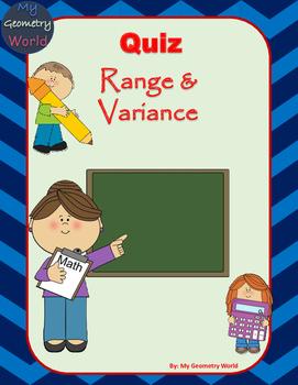 Statistics Quiz: Range & Variance