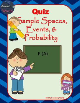 Statistics Quiz: Sample Spaces, Events, & Probability